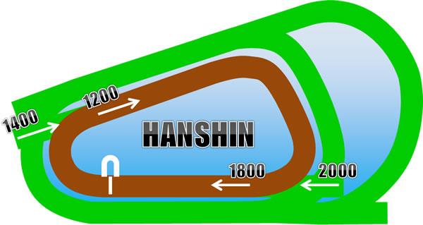 阪神競馬場のダートコース