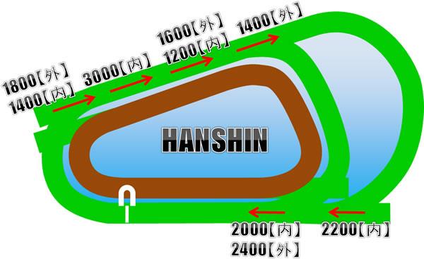 阪神競馬場の芝コース