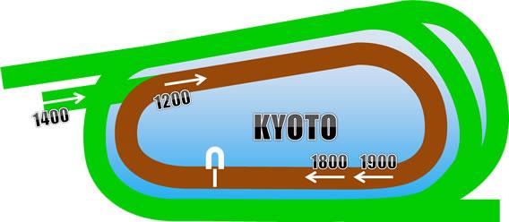 京都競馬場のダートコース