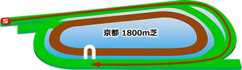 京都競馬場の芝1800mコース