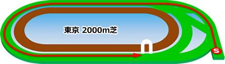 東京競馬場の芝2000mコース