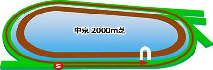 中京競馬場の芝2000mコース