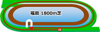 福島競馬場の芝1800mコース