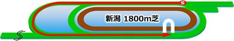 新潟競馬場の芝1800mコース